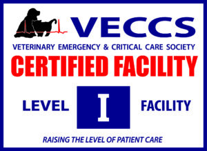 VECCS certified level 1 emergency critical care veterinary hospital